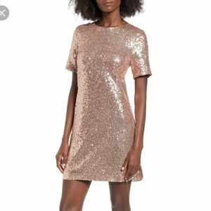 Womens Pink Sequined Dress on Poshmark